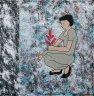 Pfennigfuchserin #4 - 2015  - Acryl/Tinte auf Leinwand - 50 x 50 (Tiefe:4.5 cm)